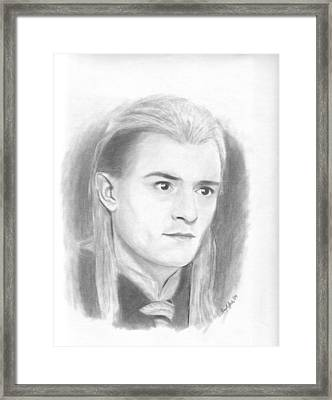 Legolas Framed Print by Amy Jones