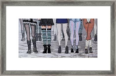 Legs Framed Print by Jutta Maria Pusl