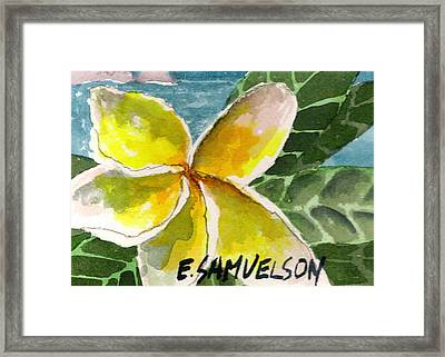 Framed Print featuring the painting Lei Pua by Eric Samuelson
