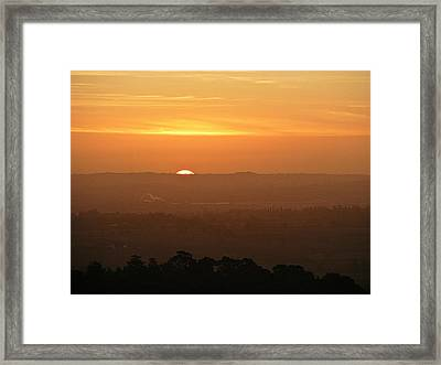 Leicestershire Sunrise Framed Print by Linsey Williams
