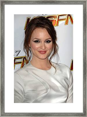 Leighton Meester In Attendance For Kiis Framed Print by Everett