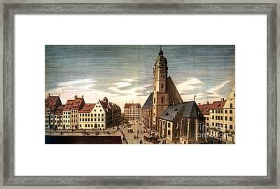 Leipzig: St. Thomas Church Framed Print by Granger