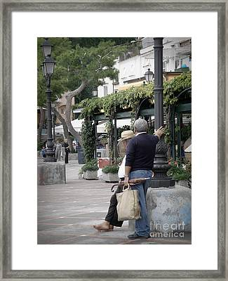 Framed Print featuring the photograph Leisure Morning by Tanya  Searcy