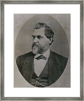 Leland Stanford 1824-1893 Was Drawn Framed Print by Everett
