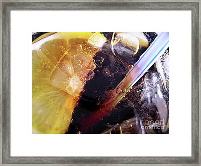 Lemon And Straw Framed Print by Carlos Caetano