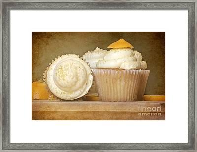 Lemon Cupcakes Feast Framed Print by Sophie Vigneault