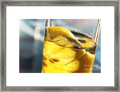 Lemon Drink Framed Print by Carlos Caetano