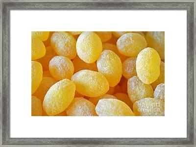 Lemon Drops Framed Print by Gwyn Newcombe