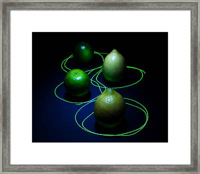 Lemon N Lime Laser Funk Framed Print