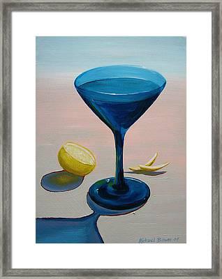 Lemon Twist Framed Print by Michael Baum