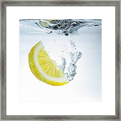 Lemon Water Framed Print by Silvio Schoisswohl
