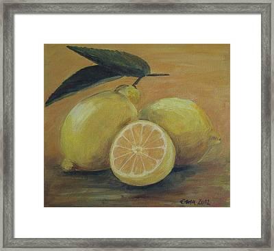 Lemons Framed Print by Ema Dolinar Lovsin