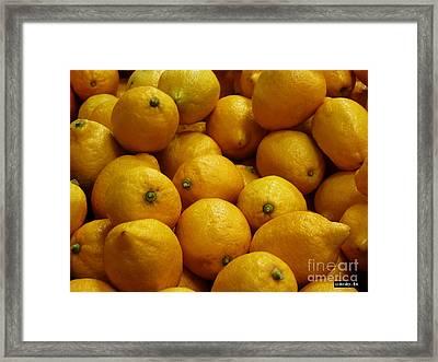 Lemons Framed Print by Methune Hively