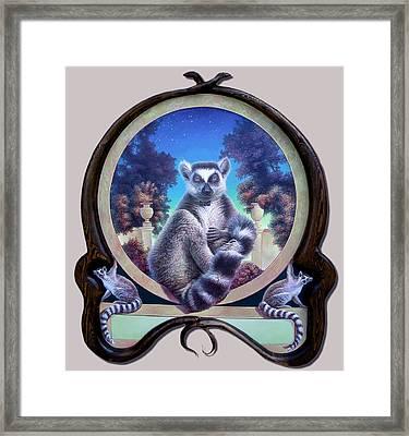Zoofari Poster The Lemur Framed Print