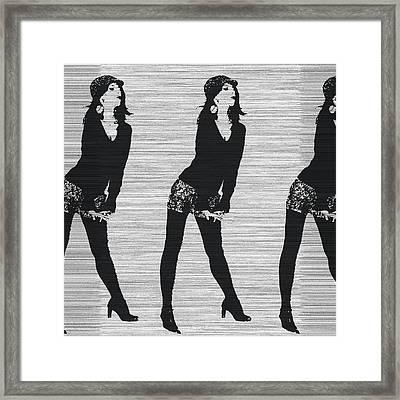 Lena In Dark Framed Print by Naxart Studio