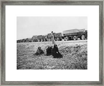 Lend Lease War Materials For The Soviet Framed Print by Everett