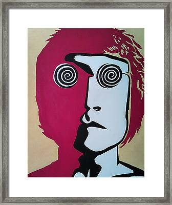 Lennon Framed Print by Kenny Cannon