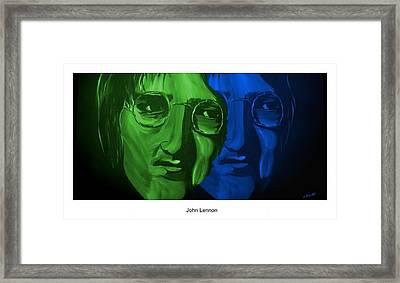 Lennon Framed Print by Mark Moore