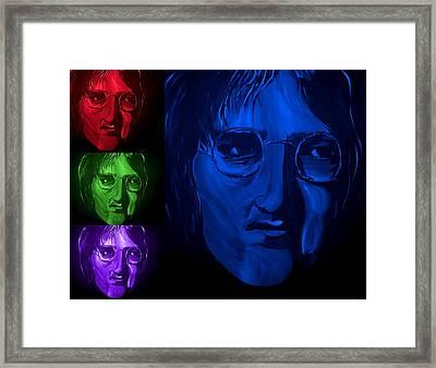 Lennon The Legend Framed Print by Mark Moore
