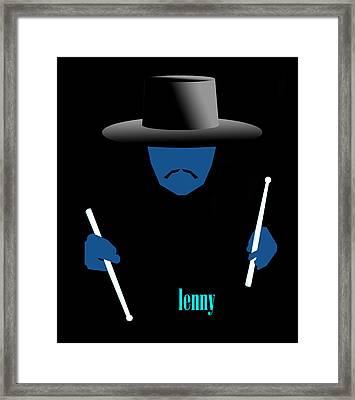 Lenny Blue Framed Print by Victor Bailey