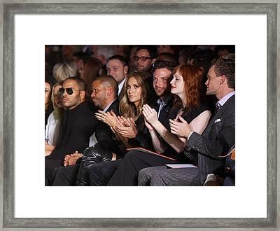 Lenny Kravitz, Jennifer Lopez, Bradley Framed Print