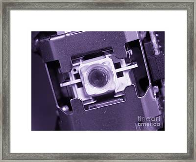 Lens Of A Cd Player Framed Print by Yali Shi