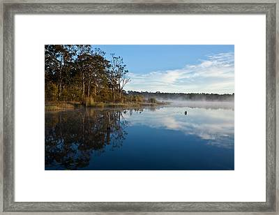 Lenthalls Dam 03 Framed Print by David Barringhaus