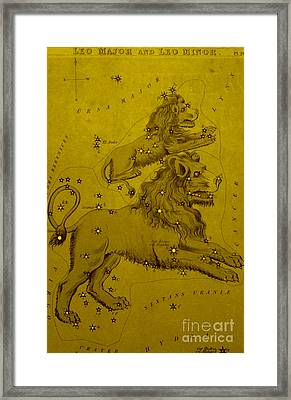 Leo Major And Leo Minor, 19th Century Framed Print by Science Source