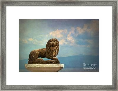 Leo On A Roof Framed Print by Susan Isakson
