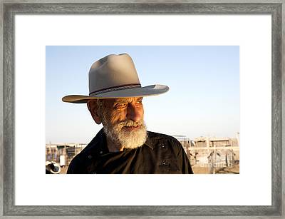 Leo The Cowboy Framed Print by Ronald Hoggard