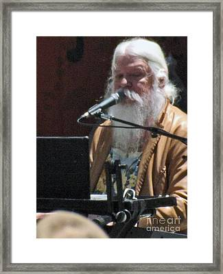 Framed Print featuring the photograph Leon Russell by Gary Brandes