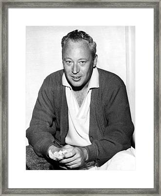 Leon Uris, Circa Late 1950searly 1960s Framed Print by Everett