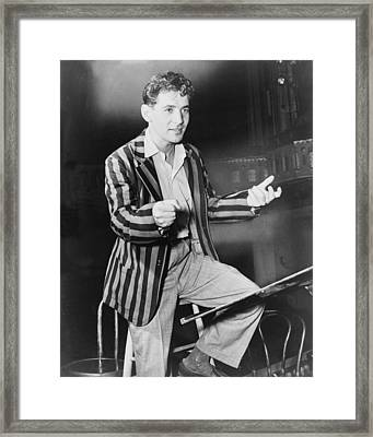 Leonard Bernstein 1918-1990, Young Framed Print by Everett