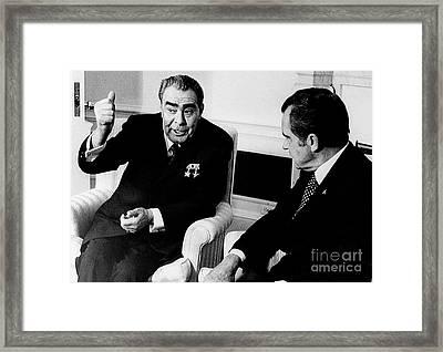 Leonid Brezhnev (1906-1982) Framed Print by Granger