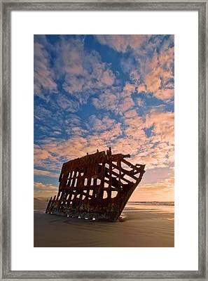 Leopard Clouds Framed Print