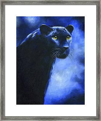 Leopard Framed Print by Diana Lehr