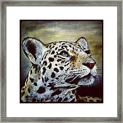 Leopard Painting I Did 16 × 20 Acrylic Framed Print