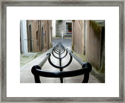 Framed Print featuring the photograph Lerwick Lanes by Lynn Bolt