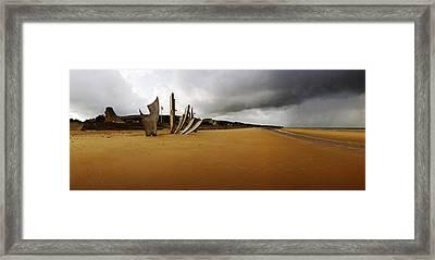 Les Braves Omaha Beach Framed Print