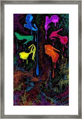 Les Couleur Des Chaussures Numero 1 Framed Print by Kenal Louis