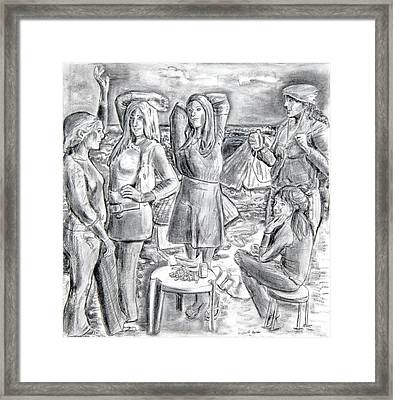 Les Demoiselles V1 Framed Print by Susan Cafarelli Burke