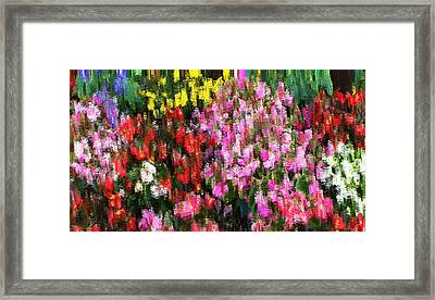 Framed Print featuring the mixed media Les Fleurs by Terence Morrissey