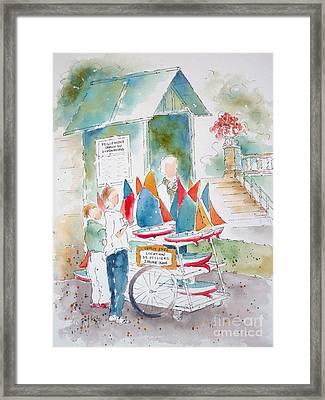 Les Voiliers Jardin Du Luxembourg Framed Print