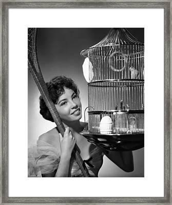 Leslie Caron, 1951 Framed Print