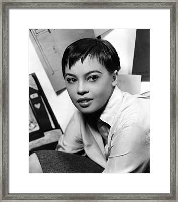 Leslie Caron, Ca. 1950s Framed Print by Everett