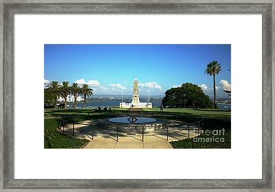 Lest We Forget Framed Print