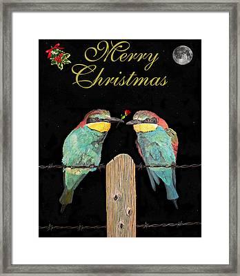 Lesvos Christmas Birds Framed Print by Eric Kempson