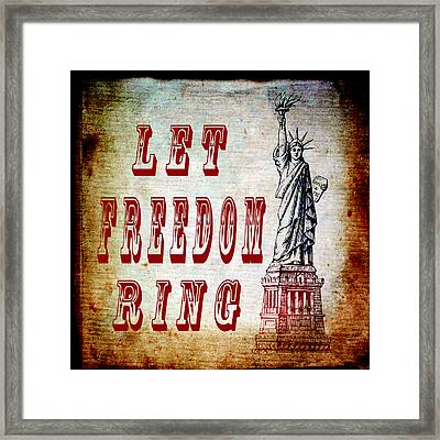 Let Freedom Ring Framed Print by Angelina Vick