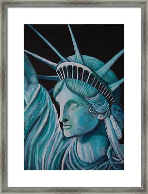 Let Freedom Ring Framed Print by Janna Columbus