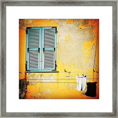 Let It All Hang Out #italy #wall Framed Print by A Rey